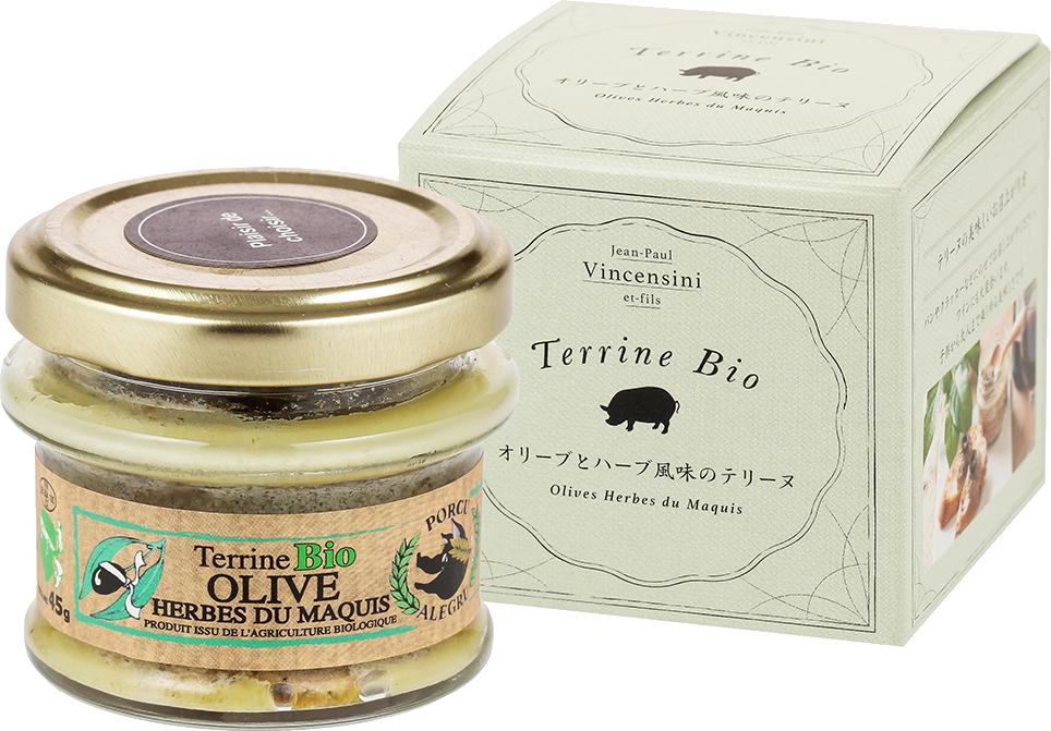Terrine Bio Olives Herbes du Maquis / オリーブとハーブ風味のテリーヌ